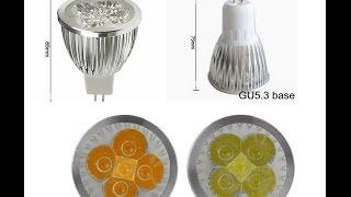 cветодиодные лампочки gu5 3 с цоколем mr16 распаковка и подключение