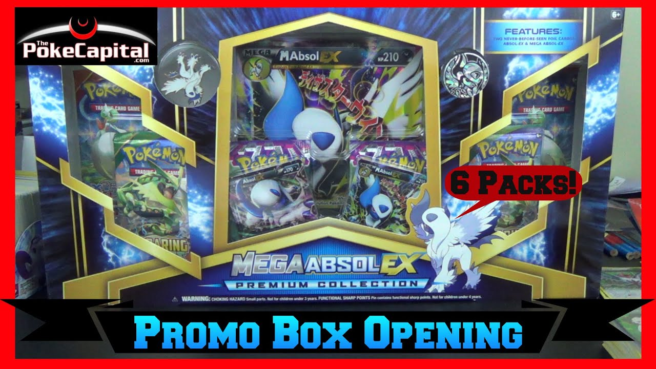 Pokemon cards mega absol ex premium collection box opening youtube