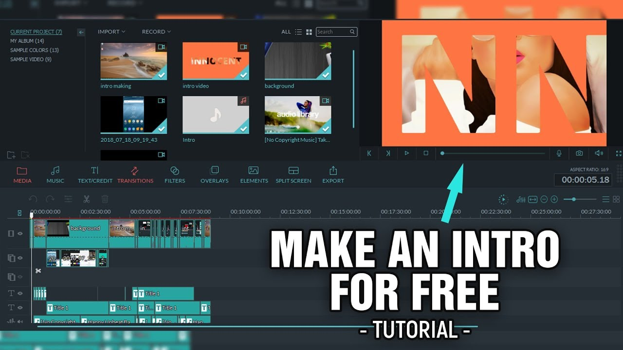 How To MAKE FREE YOUTUBE INTRO on Android Phones and Computers | Free and  Easy