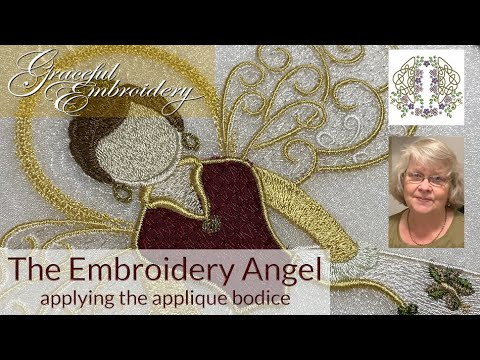 The Embroidery Angel 1 - Applying the applique bodice