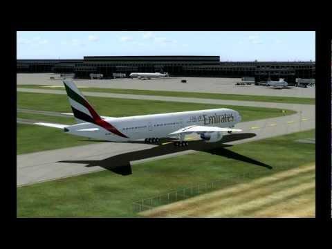 [HD] Flight Simulator X: Dubai to Houston Emirates B777-300ER