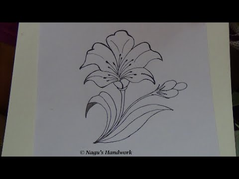 Flower Tutorial How To Draw Design Simple Drawing