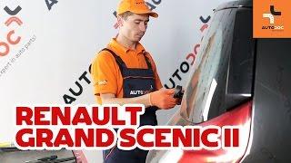 Cómo cambiar escobillas del limpiaparabrisas trasero en RENAULT GRAND SCENIC 2 INSTRUCCIÓN | AUTODOC