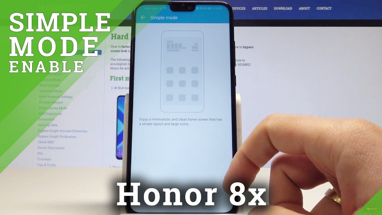 How to Enable Simple Mode in Honor 8x - Turn On / Off Easy Mode