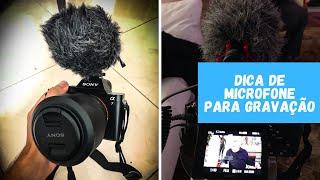 Dica de microfone direcionado para produção de conteúdo