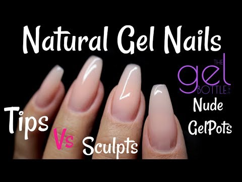 ♡HOW TO: NATURAL GEL NAILS // *NEW* TGB NUDE HARD GELPOTS♡ - YouTube