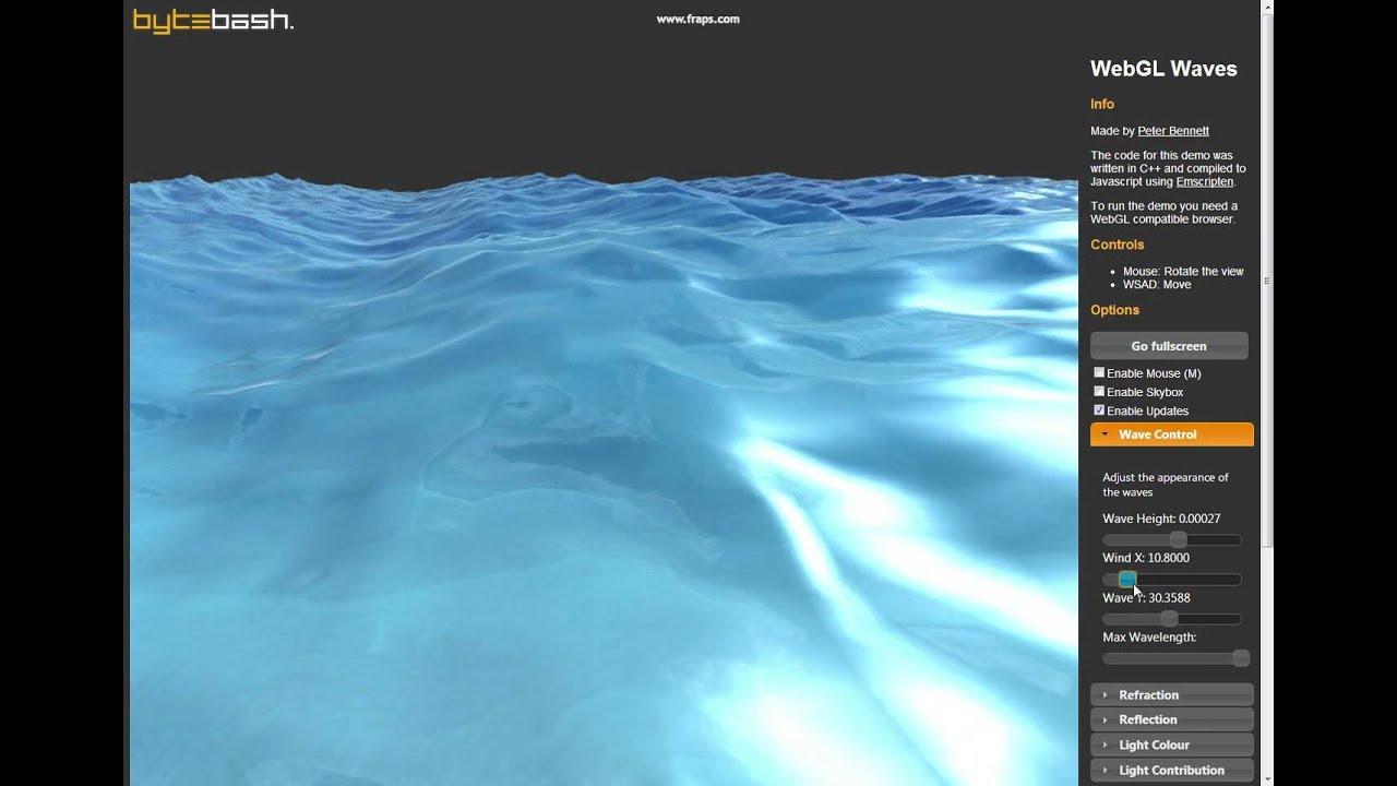 WebGL Waves