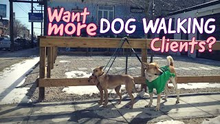 How to Get DOG WALKING CLIENTS