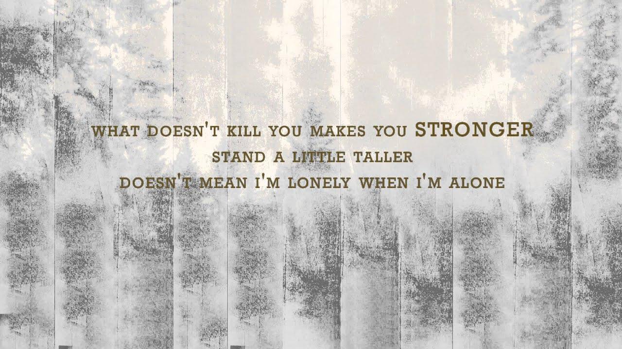 Kelly clarkson stronger lyrics official video