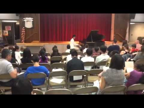Community Piano Recital at Monterey Hills Elementary School