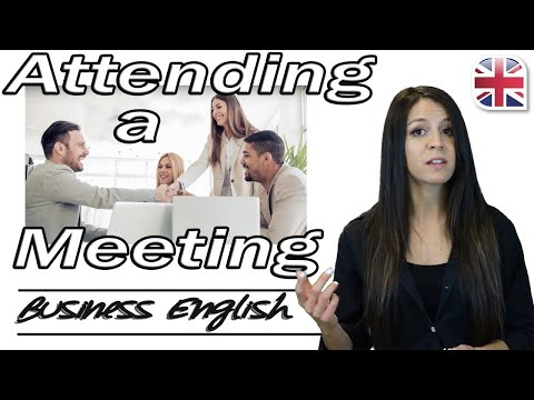 Attending a Meeting in English - Useful English Phrases for Meetings - Business English