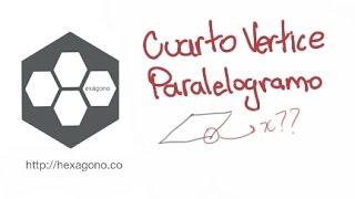 Cuarto vértice paralelogramo