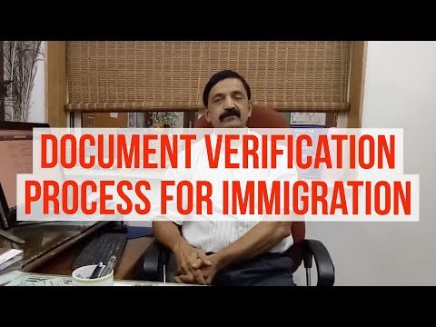 Manoj Palwe of Dreamvisas on Document verification process  in  migration !! (www.dreamvisas.com)