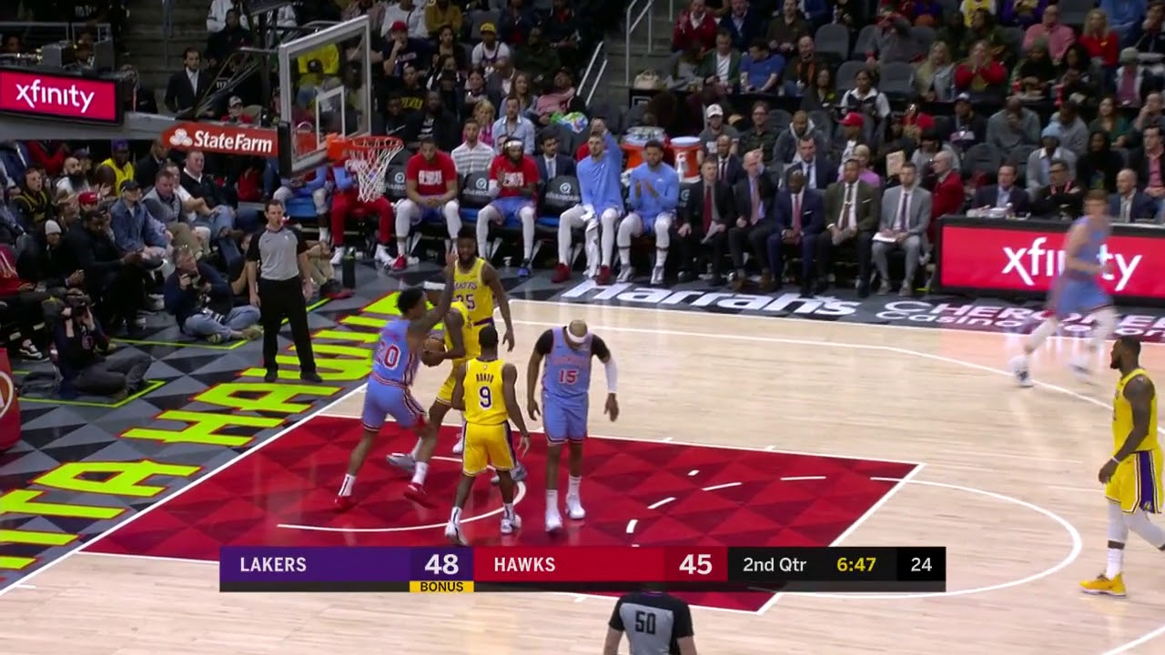 3rd Quarter, One Box Video: Atlanta Hawks vs. Los Angeles Lakers