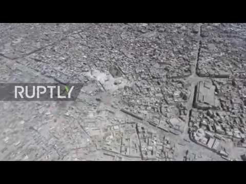 Iraq: Drone captures ruins of Great Mosque of al-Nuri and Old City of Mosul