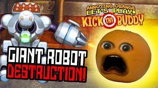 Kick the Buddy Giant Killer Robot Annoying Orange Plays