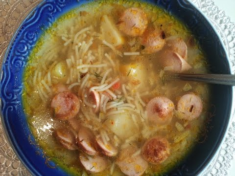 Как варить суп с сосисками