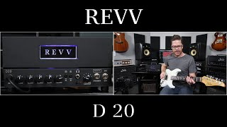 REVV Amps D20 20 watt all tube amp with built-in Two Notes Torpedo. Demo video by Shawn Tubbs