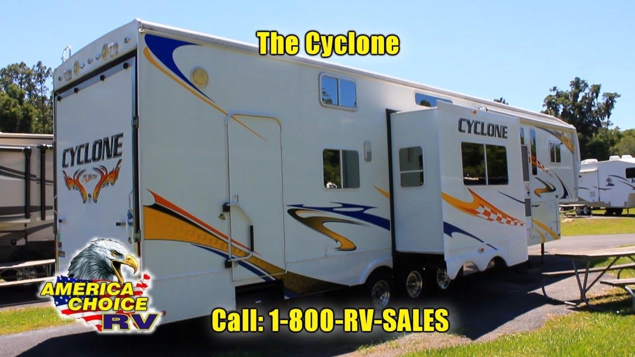 Heartland Cyclone Toy Hauler at America Choice RV - YouTube