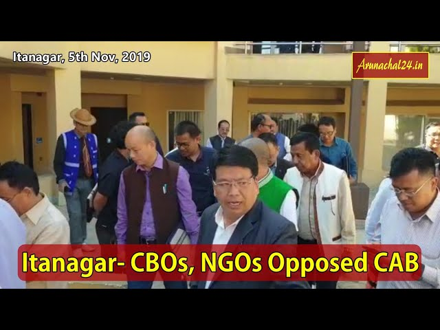 Itanagar- CBOs, NGOs Opposed CAB