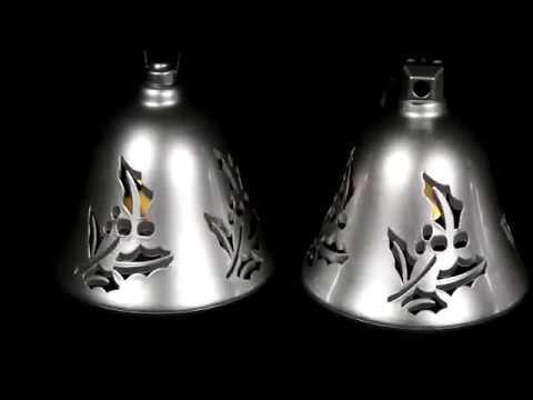 67527 Mr. Christmas Set of 3 Musical Bells - Silver