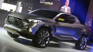 Hyundai Santa Cruz pickup with four doors, five seats, due around 2020