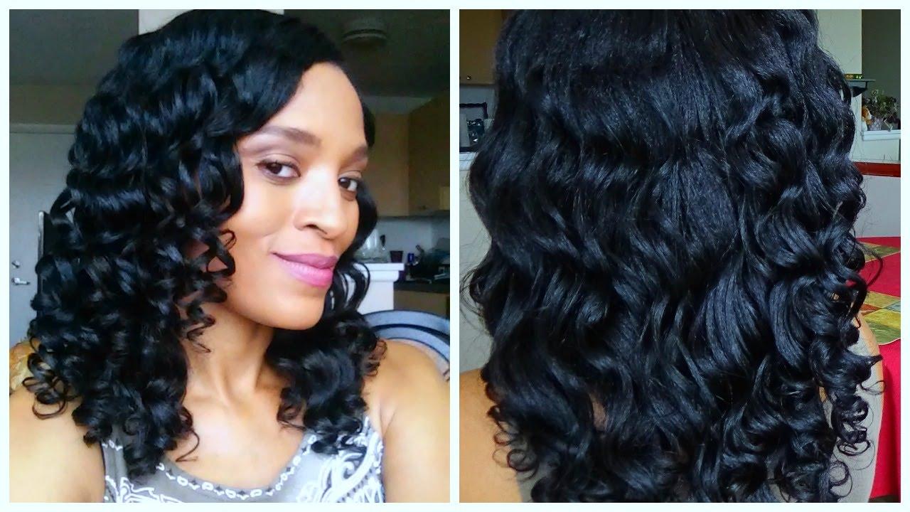 Flexi Rod Set Tutorial Relaxed Hair Youtube