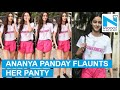 Ananya Panday flaunts her PANTY from her gym shorts