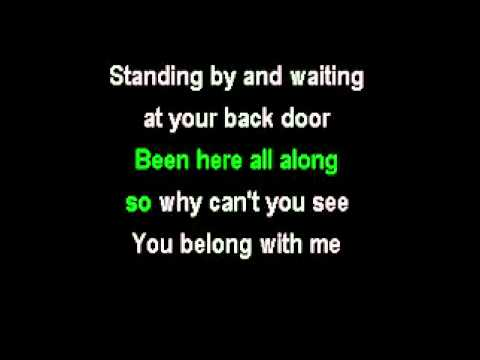 Taylor Swift  You Belg With Me Karaoke Lyrics