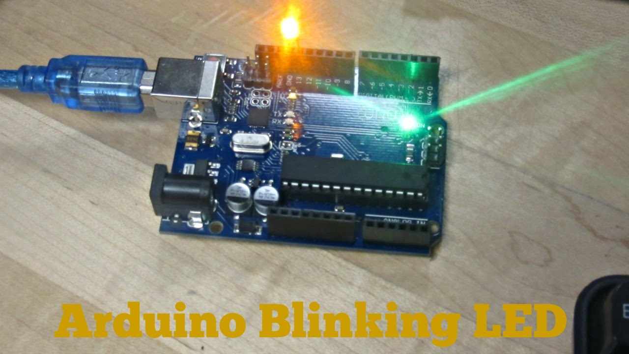 Arduino tutorial led blink code included youtube