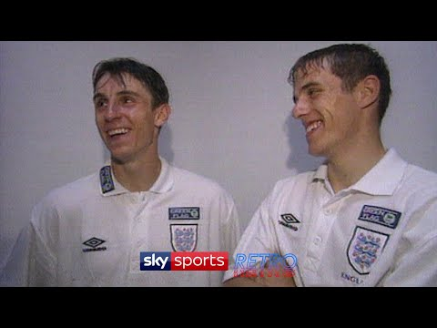 """""""We're a good partnership"""" """"Are we?"""" - A young Gary & Phil Neville on playing together"""