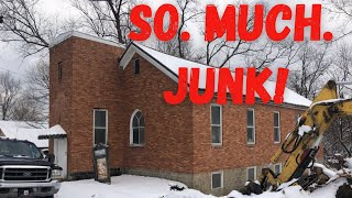 Cleaning Out the Basement of the ABANDONED CHURCH!!! ( it was gross)