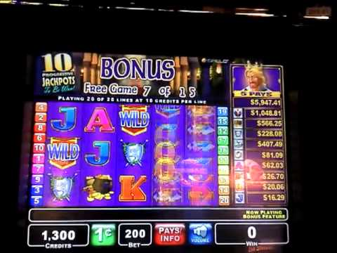 Spielo King S Fortune Bonus Round Finger Lakes Casino