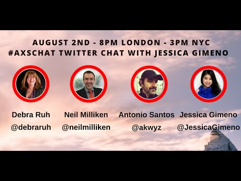 AXSChat with Jessica Gimeno.Blogger, writer and keynote speaker.