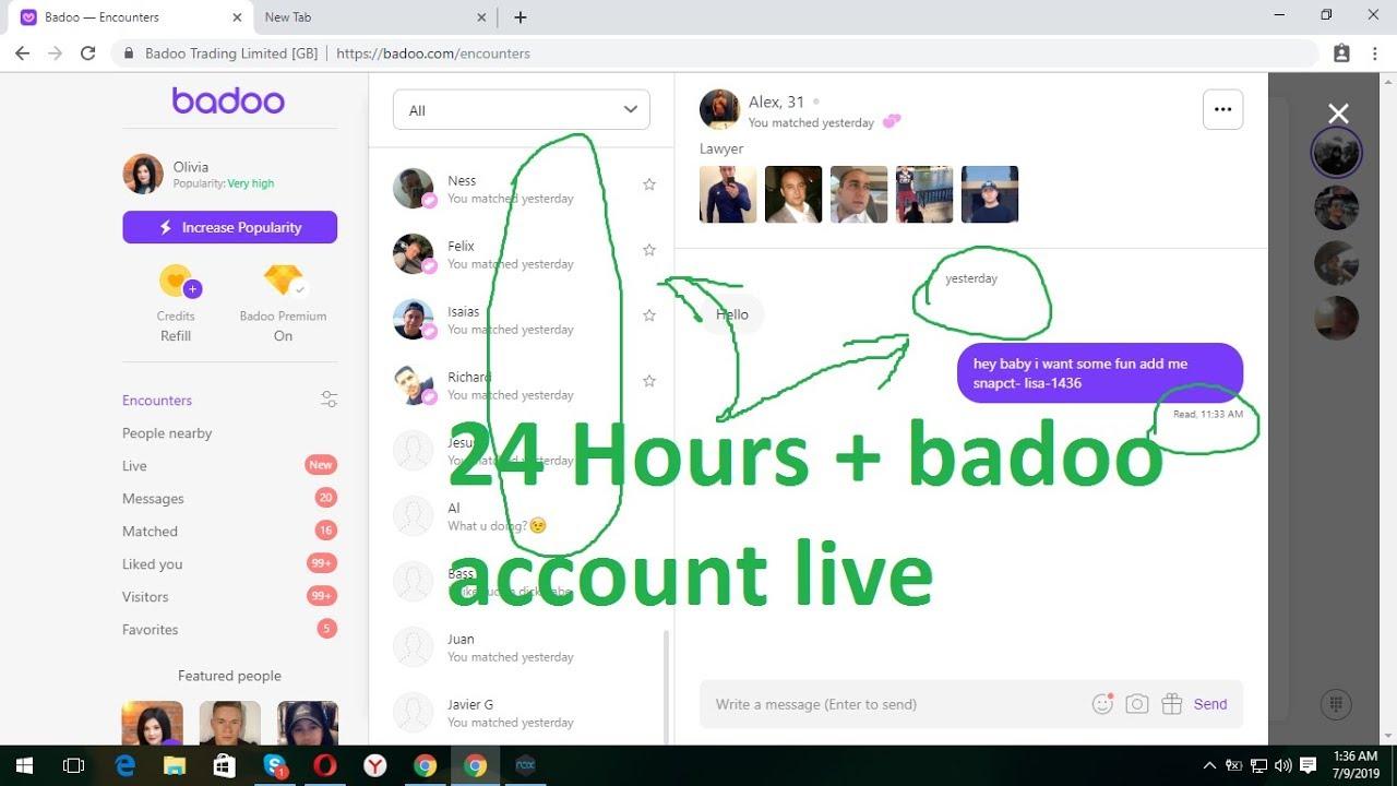 Badoo web version