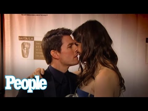 Flashback: Tom Cruise and Katie Holmes' First Red Carpet Kiss | People