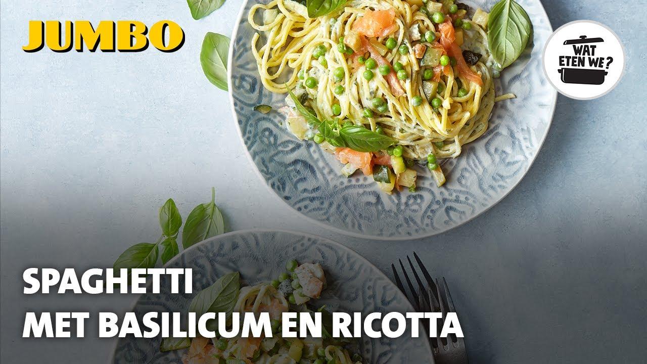 Wat eten we? Pasta met basilicumsaus en zalm