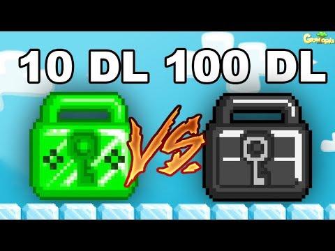 100 WL LOCK Vs 100 DL LOCK!! [WINTERFEST] | GrowTopia