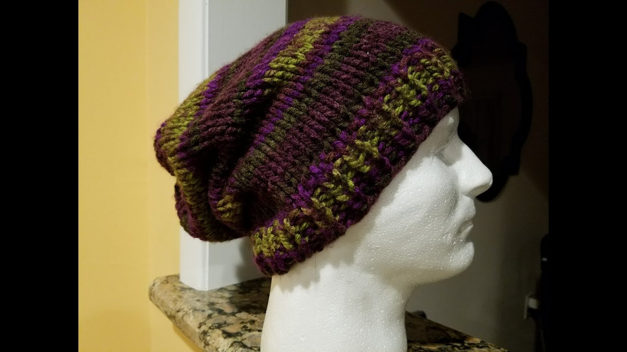 Knit slouch hat tutorial youtube knit slouch hat tutorial dt1010fo