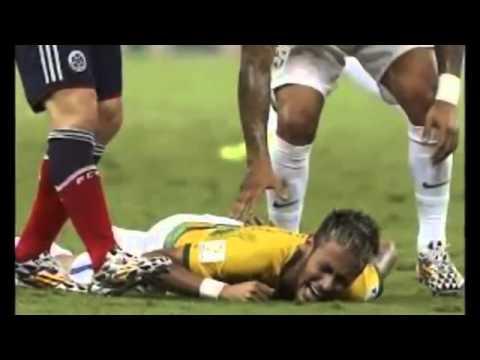 Neymar get injured in FIFA world cup 2014