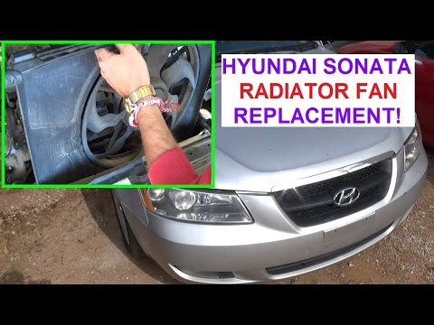 radiator fan relay wiring diagram rj45 punch down removal and replacement on hyundai sonata 2006 - 2010 cooling youtube