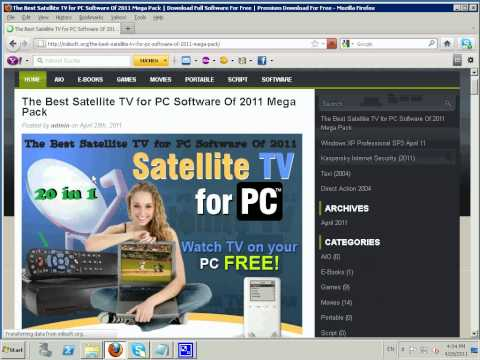 Satellite TV for PC Software Of 2011 Mega Pack
