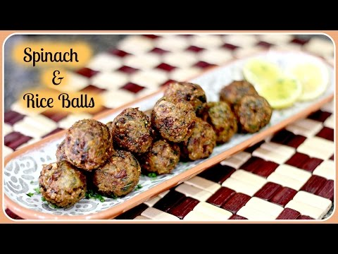 Spinach & Rice Balls – Quick Evening Snack REcipe/ Gluten Free & Vegan