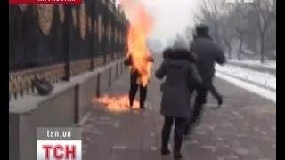 Доведенная до отчаяния женщина хотела себя сжечь