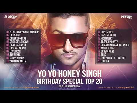 YO YO Honey Singh Birthday Special TOP 20 | DJ Shadow Dubai Remixes | Audio Jukebox