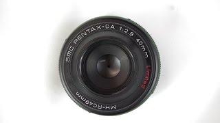 Pentax 40mm f/2.8 DA limited Pancake lens w/ K-70 review