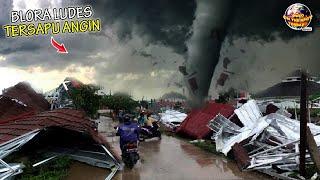BLORA PorakPoranda.! Angin Puting Beliung Sapu Habis Rumah² & Warung, Warga Berhamburan