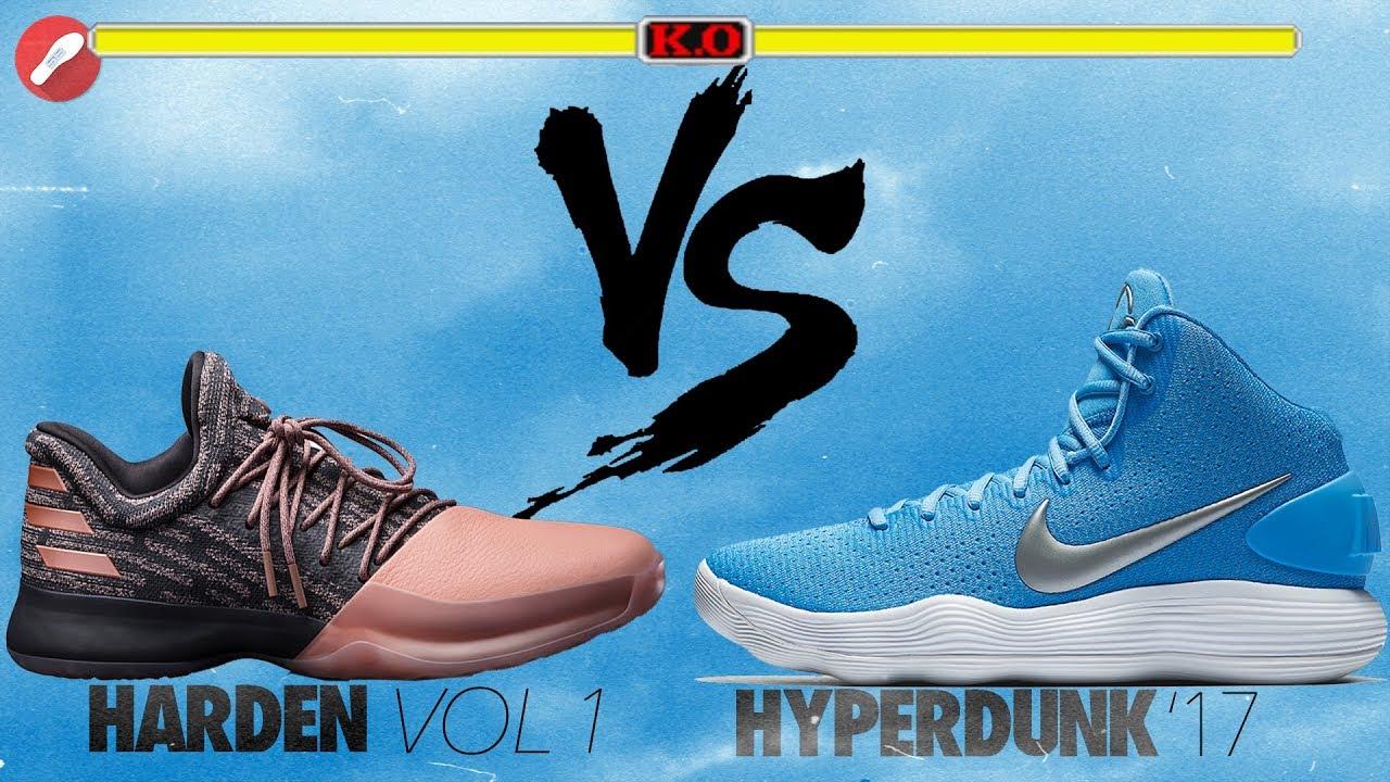 f1653823a63a Adidas Harden Vol. 1 vs Nike Hyperdunk 2017! - YouTube