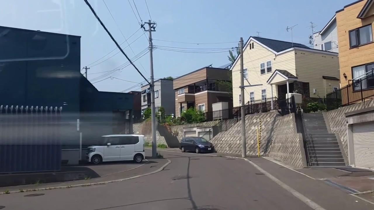 札幌市西區福井3~住宅街~ひまわり公園~左股川緑地 ドライブ hokkaido sapporo - YouTube