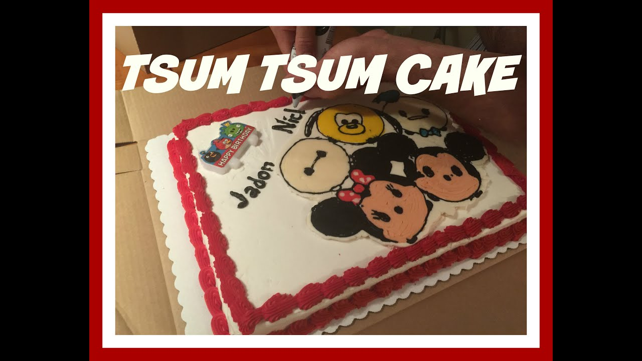 DISNEY TSUM TSUM CAKE YouTube
